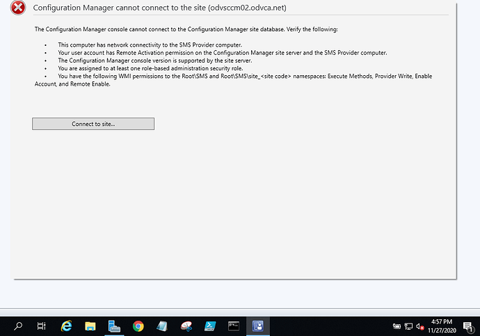 sccm_connection_issue
