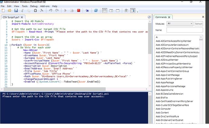 Script no errors